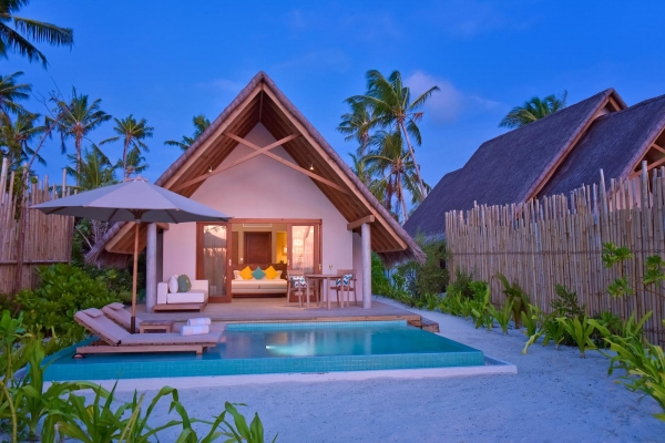 Pool Beach Villa Sunset